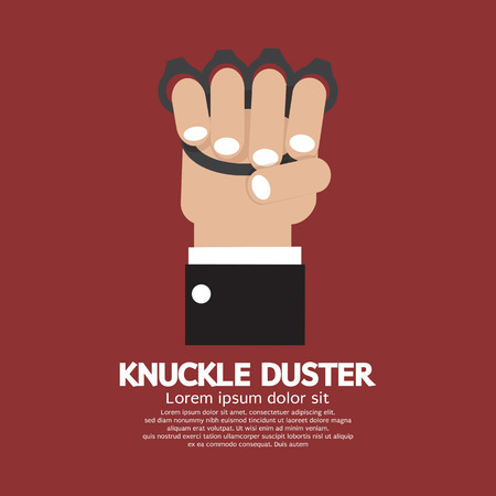 knuckle: Knuckle Duster In Hand Graphic Vector Illustration Illustration