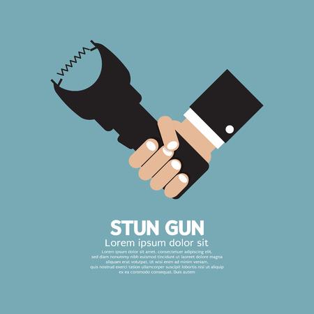 electroshock: Stun Gun A Personal Security Weapon Vector Illustration Illustration
