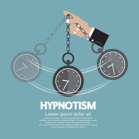 Hypnotism By Using A Clock Vector Illustration