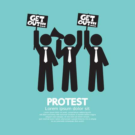 activism: Grupo de Ilustraci�n s�mbolo manifestante Vector Graphic
