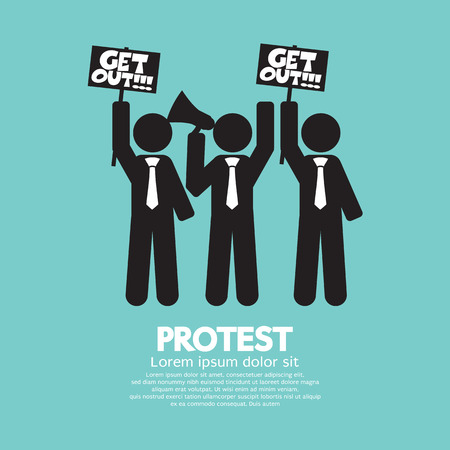 Group Of Protester Graphic Symbol Vector Illustration