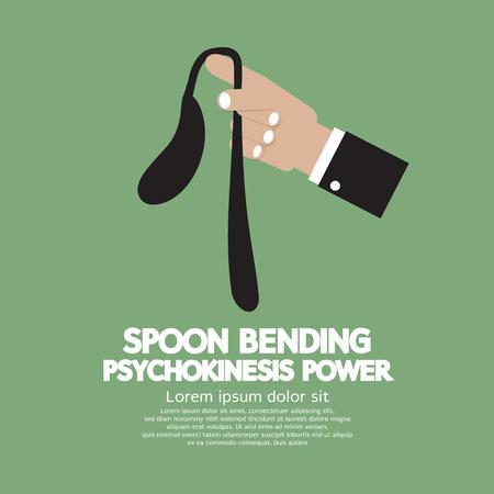 bent: Spoon Bending Psychokinesis Power Vector Illustration