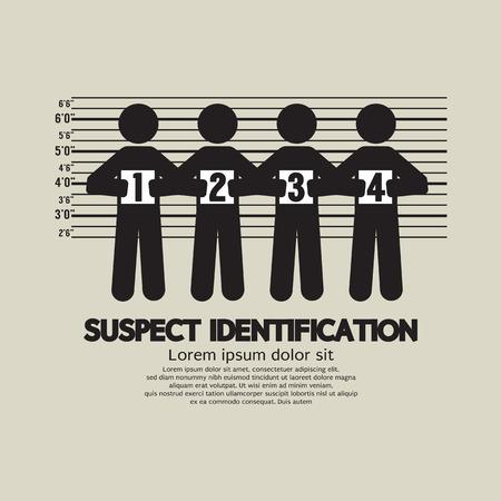 Suspect Identification Graphic Symbol Vector Illustration Illustration