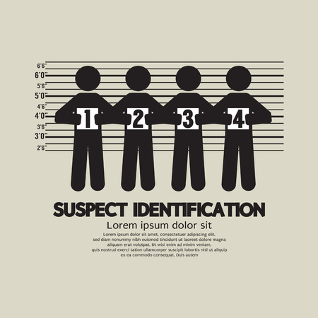 Suspect Identification Graphic Symbol Vector Illustration Stock Illustratie