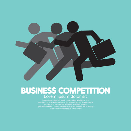 business competition: Business Competition Symbol Concept Vector Illustration