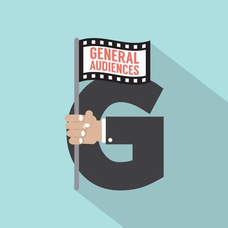 audiences: General Audiences Symbol-American Film Rating System Illustration