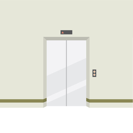 door: Closed Doors Elevator Vector Illustration Illustration