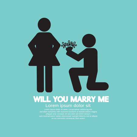 propose: Will You Marry Me Graphic Symbol Vector Illustration