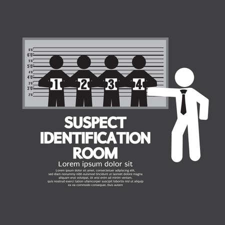 Suspect Identification Room Vector Illustration Vector