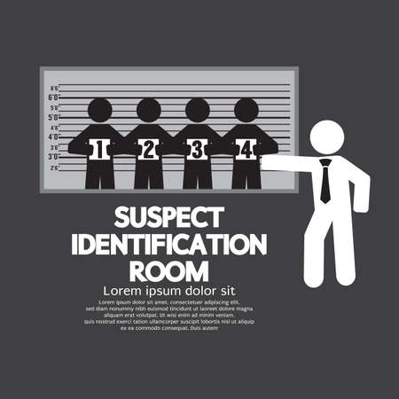 lineup: Suspect Identification Room Vector Illustration Illustration
