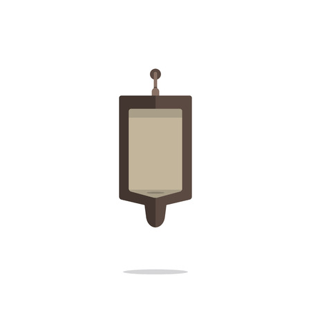 urinate: Flat Design Single Men Urinal Vector Illustration