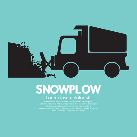 plow: Snowplow Removing The Snow From Road Vector Illustration