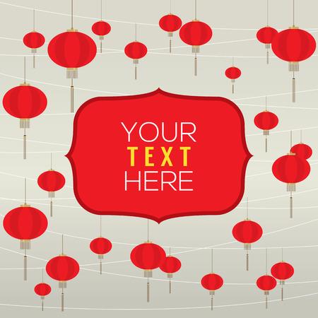 red lantern: Red Lantern Background Template Vector Illustration