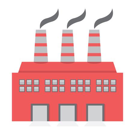 Einzelfabrikgebäude Wohnung Design Vector Illustration Standard-Bild - 35580099