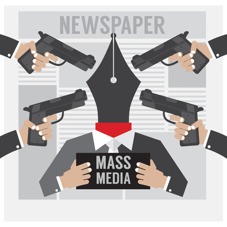 kidnapping: Mass Media Is The Hostage Vector Illustration Illustration