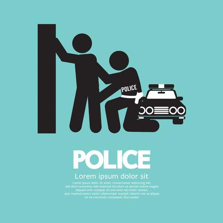 police arrest: Police Vector Illustration Illustration