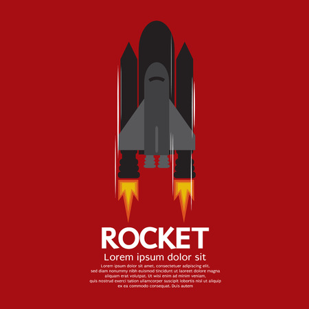 booster: Rocket sola ilustraci�n vectorial Cami�n de bomberos Vectores