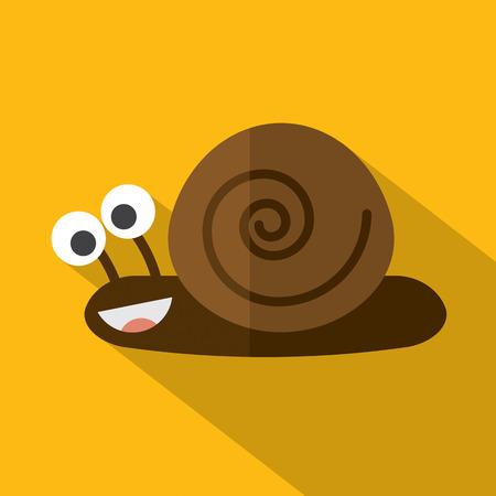 gastropod: Modern Flat Design Snail Icon Vector Illustration