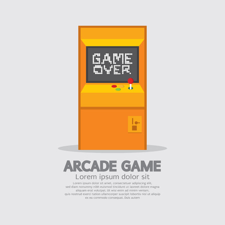 Arcade Machine Vector Illustration Vector