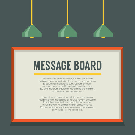 bill board: Blank Message Board On The Wall Vector Illustration Illustration