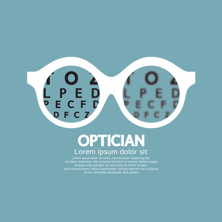 eyesight: Optician, Vision Of Eyesight Vector Illustration