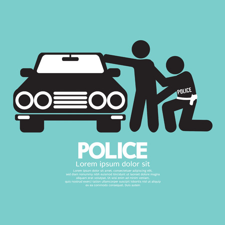 caught: Police Vector Illustration Illustration
