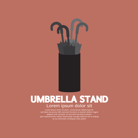 Umbrella Stand Vector Illustration