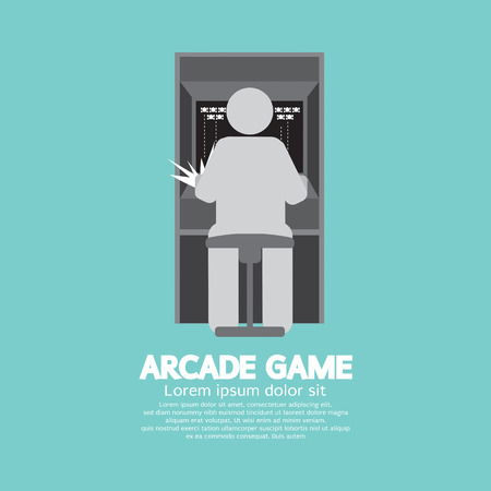 Arcade Machine Player Graphic Symbol Vector Illustration Vector