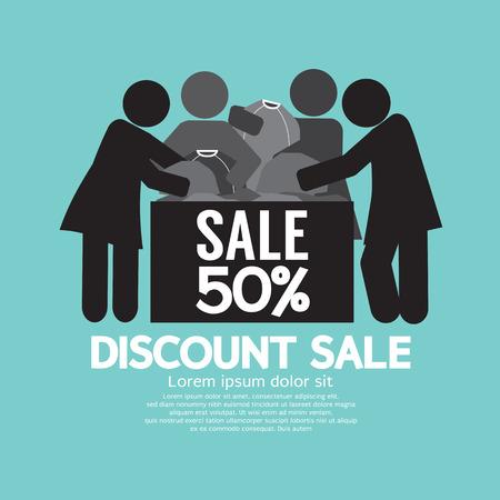 sale off: Discount Sale 50% Off Symbol Vector Illustration