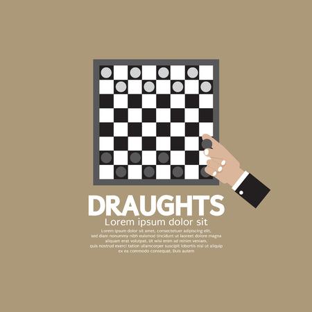 draughts: Draughts Or Checker Board Game Vector Illustration Illustration
