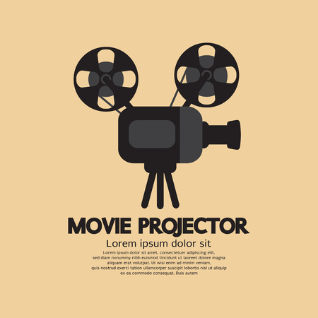 movie projector: Movie Projector Vector Illustration