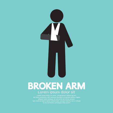 bandages: Broken Arm Graphic Symbol Vector Illustration