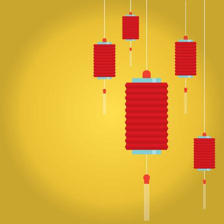 red lantern: Red Lantern Background Vector Illustration