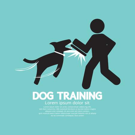 dog bite: Dog Training Graphic Symbol Vector Illustration Illustration