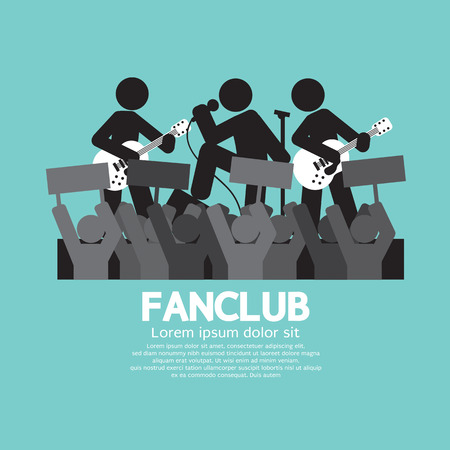 admirer: Fan Club The Big Fan Of The Band Vector Illustration