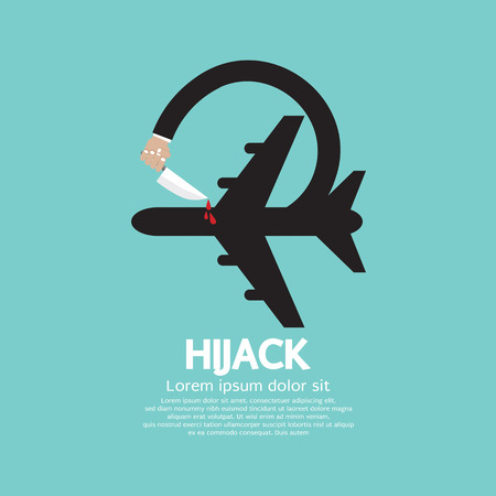 hijack: Plane Hijack Concept Abstract Design Vector Illustration