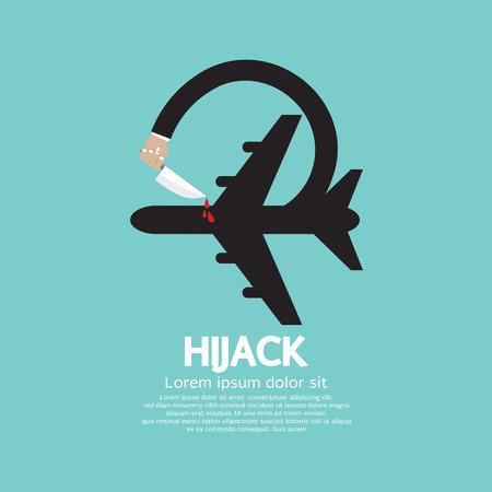 hijacking: Plane Hijack Concept Abstract Design Vector Illustration