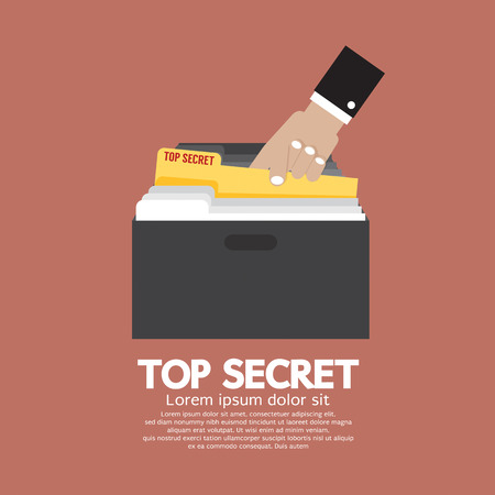 Top Secret Folder In Hand Vector Illustration