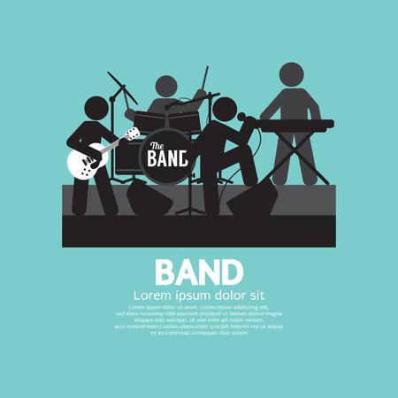 Band Of Músico Ilustración Negro Símbolo Vector