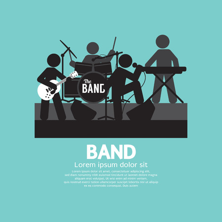 band instruments: Band Of Musician Black Symbol Vector Illustration