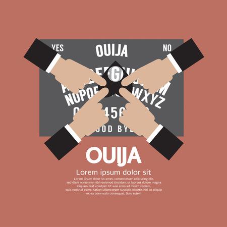 adivino: Ouija Jugar Ilustraci�n Vector Vectores