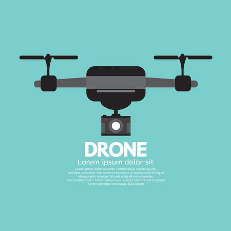 Side View Of Drone Vector Illustration Illustration