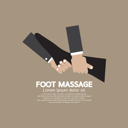 massage therapist: Foot Massage Relaxing Vector Illustration