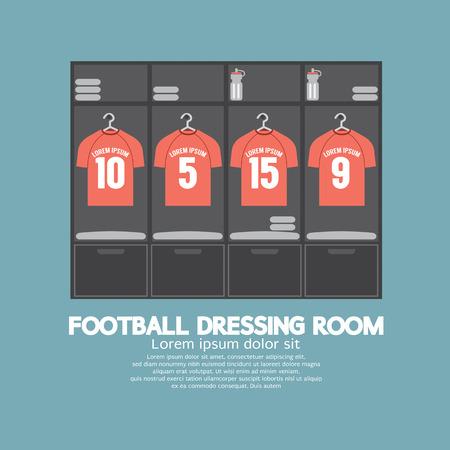 kleedkamer: Voetbal of Voetbal Garderobe Vector Illustratie