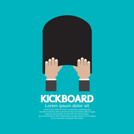keep up: Kick Board Swimming Support Equipment Vector Illustration