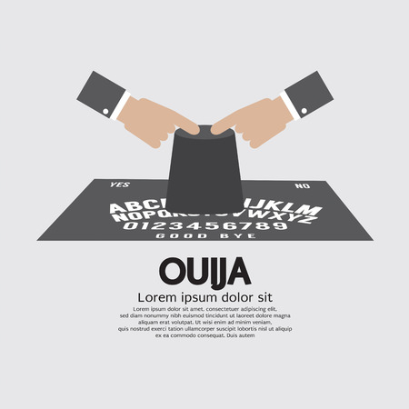 soothsayer: Ouija Board Playing Vector Illustration