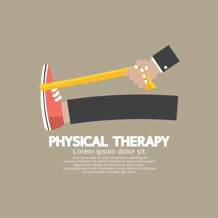rehabilitation: Physical Therapy Vector Illustration