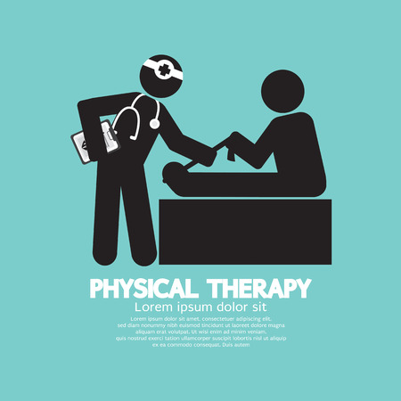 Black Symbol Physical Therapy Vector Illustration