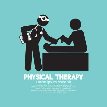 Zwarte Symbool Fysiotherapie Vector Illustratie Vector Illustratie