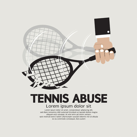 breaking down: Breaking Down Tennis Abuse Vector Illustration
